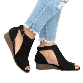*Online Exclusive* Roman Wedge Heels with Peep Toe Shoes