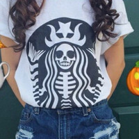 Halloween White T shirt