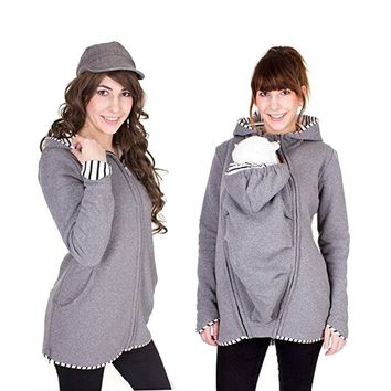 New styles Meternity Hoodies Kangaroo Clothes Long Sleeve Winter Hooded Coat For Maternity Pregnant Women