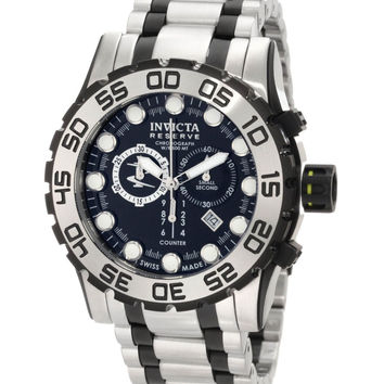 Invicta 0814 Men's Reserve Swiss Made Two Tone Black Dial Chronograph Dive Watch