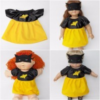 """HALLOWEEN Bitty Baby Clothes Doll 15"""" girl twin Cabbage Patch Kids or 18"""" Bat Gi"""