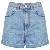 MOTO Bleach Shorts - Light Blue