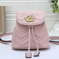 GUCCI Women Fashion Leather Backpack Shoulder Bag Daypack