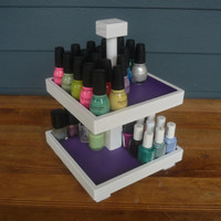 NEW COLOR BLOCK Design Nail Polish 2 Tier Table Top Organizer