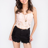 Cindy Lace Bustier - Pink