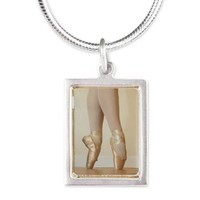 En Pointe Silver Portrait Necklace