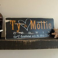 Rustic Last Name Signs, Established Sign, Est. Family Sign, Rustic Wood Sign Finish