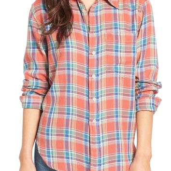 MOTHER The Frenchie Plaid Shirt | Nordstrom