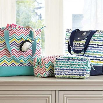 Sleepover Tote Bag, Color Me Zig Zag