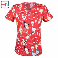 5 DESIGNS IN  Hennar Brand medical scrub tops surgical 100% print cotton  medical uniforms