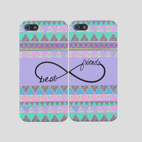 Aztec Best Friends iPhone Case -Infinity Best Friends Iphone Case, Two Case Set,  Best Friends Iphones, Iphone 5, Iphone 4
