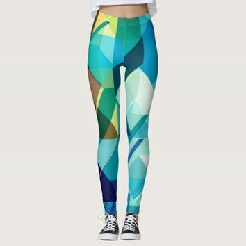 Cool abstract printed texture legging