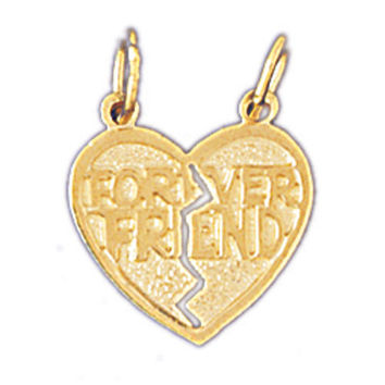 14K GOLD SAYING CHARM - FOREVER FRIEND #10358