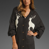 WILDFOX COUTURE Cabin Girl Midnight Cowboy Cardigan in Dirty Black at Revolve Clothing - Free Shipping!