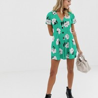 ASOS DESIGN tea romper in floral print | ASOS