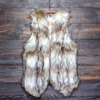 wild child faux fur vest