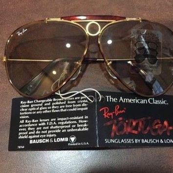Ray Ban Shooter Vintage Tortuga Sunglasses Changeable Lenses NEW with Tags Case