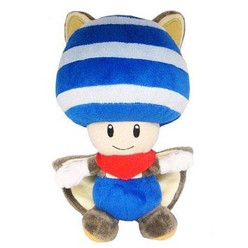 Super Mario party nes switch  Bros Blue Flyinq Squirrel Toad  Plush Toys AT_80_8