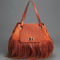 Alexander McQueen LU Genuine Leather Fringed Melrose Tote, 9/10 Condition - Milan Fashion Trends from $15 - Modnique.com