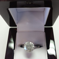 5.10 Carat G I1 Diamond Engagement Ring 14K Tiffany Solitaire Anniversary Bridal Certified Jewelry Must See!! Valentine's Day Sale! Hurry!
