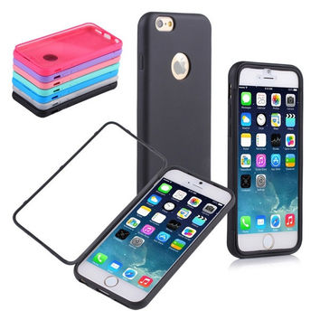 TPU Wrap Up Case Cover Built-in Screen Protector for Apple iPhone 6 4.7Inch [7942649351]
