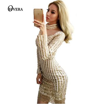 Super Beautiful Turtleneck Long Sleeve Sequined Dress 2017 Sexy Women Back Zipper Party Clubwear Overalls Mini Dress Vestidos