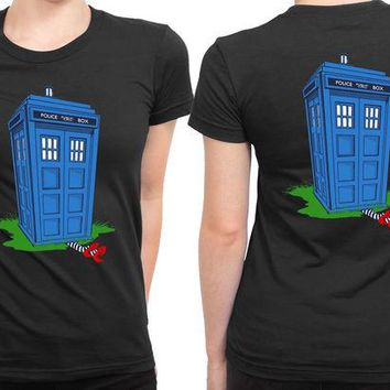 VONEED6 Tardis And The Wicked Witch 2 Sided Womens T Shirt