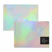 Silver Hologram Envelope Set - The Social Type