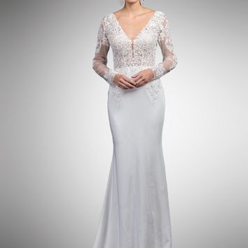 long sleeve lace wedding dress DQ0052