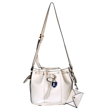 Perhaps Love Stylish White An Adjustable Strap Leatherette Bag Handbag Purse