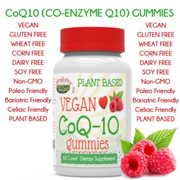 Vegan CoQ10 Gummies (CO-ENZYME Q10 -Plant Based)