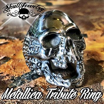 'The Plague' Skull Ring (736Stainless)