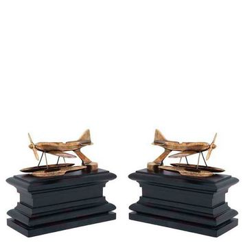 Brass Airplane Bookends | Eichholtz Hydroplane