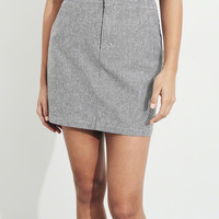 Girls Stretch Oxford A-Line Skirt | Girls Bottoms | HollisterCo.com