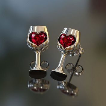 Love Wine Earrings