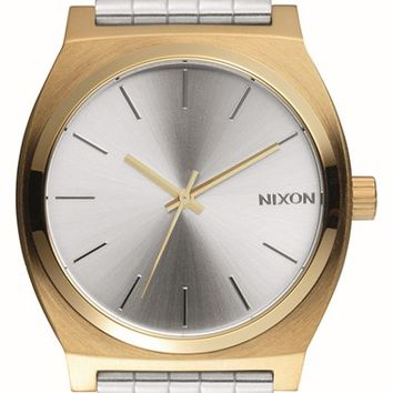 Women's Nixon 'Time Teller' Bracelet Watch, 37mm - Silver/ Gold