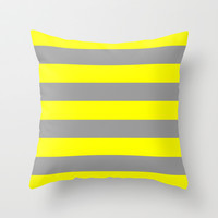 žut v.4 Throw Pillow by trebam