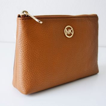 MICHAEL KORS FULTON Tasche TRAVEL CASE Kosmetiktasche Leder luggage