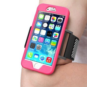 iPhone 6 Armband, SUPCASE Apple iPhone 6 Armband 4.7 inch Easy Fitting Sport Running Armband with Premium Flexible Case Combo for iPhone 6 Case (Magenta), Not Fit iPhone 6 Plus 5.5 inch: Amazon.ca: Cell Phones & Accessories
