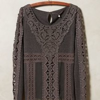Torchon Lace Pullover by Knitted & Knotted Dark Grey