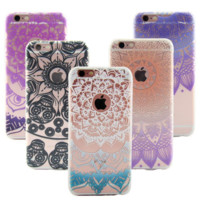 Mandala Lace Flower Case Cover for iPhone 6 7 7 Plus