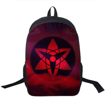 Naruto Sasauke ninja Anime  School Bag Teens Boys Girl Students Back to School Book Bag Laptop Backpack  Uzumaki Kurama Printing Backpack AT_81_8
