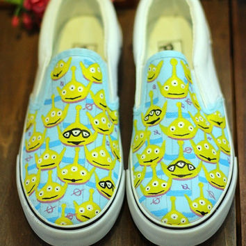 Custom Toy Story Painted Shoes Hand Painted Shoes Toy Story Shoes