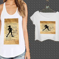 Peter Pan Mary Poppins Wizard Oz Vintage Quote For Woman Tank Top , Man Tank Top / Crop Shirt, Sexy Shirt,Cropped Shirt,Crop Tshirt Women,Crop Shirt Women S, M, L, XL, 2XL**