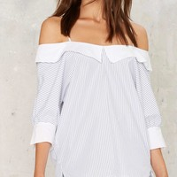 Shipping Off Cold Shoulder Top