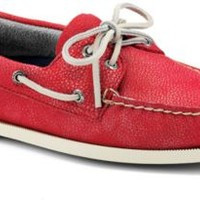 Sperry Top-Sider Authentic Original Washed Leather 2-Eye Boat Shoe RedWashedLeather, Size 9M  Men's