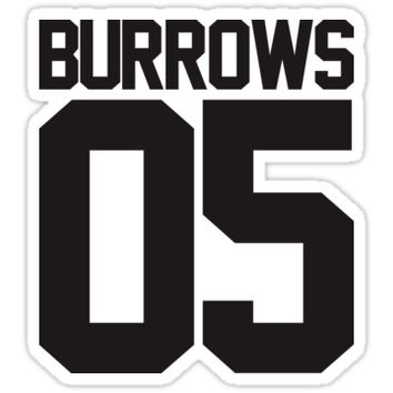 'BURROWS 05' Sticker by bebetter5