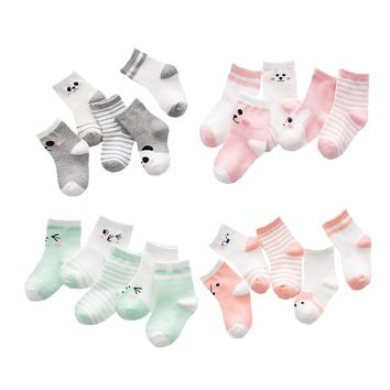 Lawadka Baby Socks 5 Pair Lot Casual Cotton Baby Girl Socks Winter Newborn Cartoon Striped Baby Socks Boy Clothes Accessories