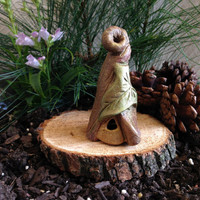 Fairy House Ornament with a Golden Door- Fairy Garden Supplies / Fairy House / Treehouse sprinkled with Fairy Dust