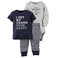 Carter's ''I Get My Charm From Daddy'' Top & Pants Set - Baby Boy, Size: